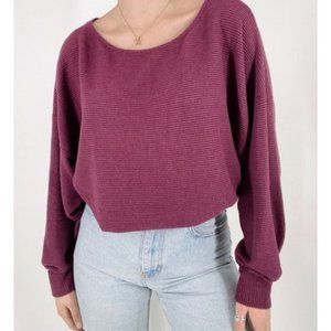 Lucky Brand Pullover Maroon Boat Neck Sweater